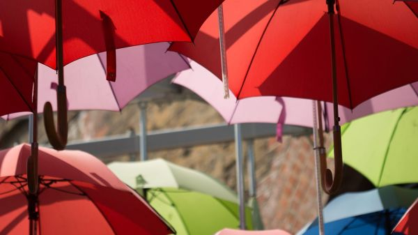 Photo of many umbrellas