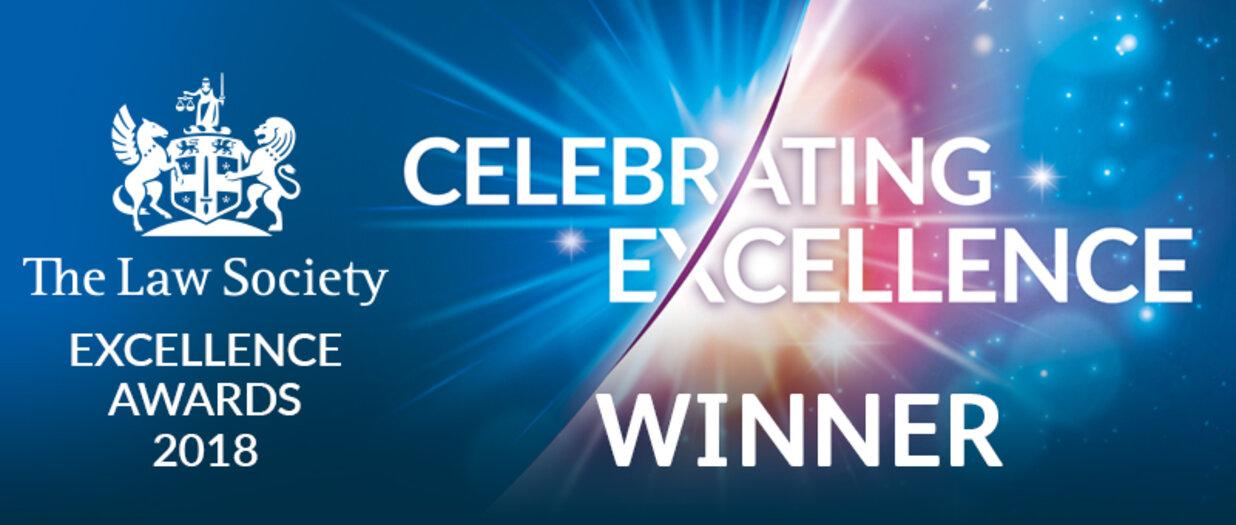 Law Society Excellence Awards 2018 Winner logo