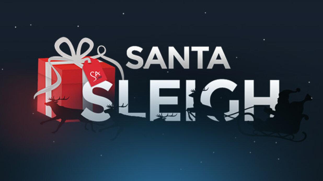 Santa sleigh small banner
