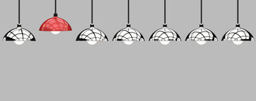 Image of hanging lightbulbs