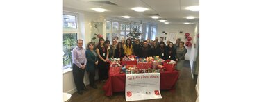 Christmas 2016 SA Law staff say thank you for supporting food bank