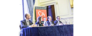 SA Law 2016 Digital Risk Event panel members Chris Cook, Vanessa Carwley, Simon Walsh, Mike Lewis