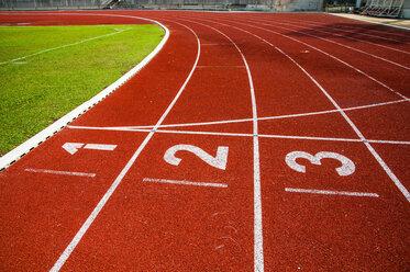 Sport race track starting line
