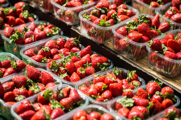 Strawberries punnets