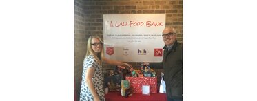 Christmas 2016 SA Law food bank Sophie Hudson & Terence Ritchie